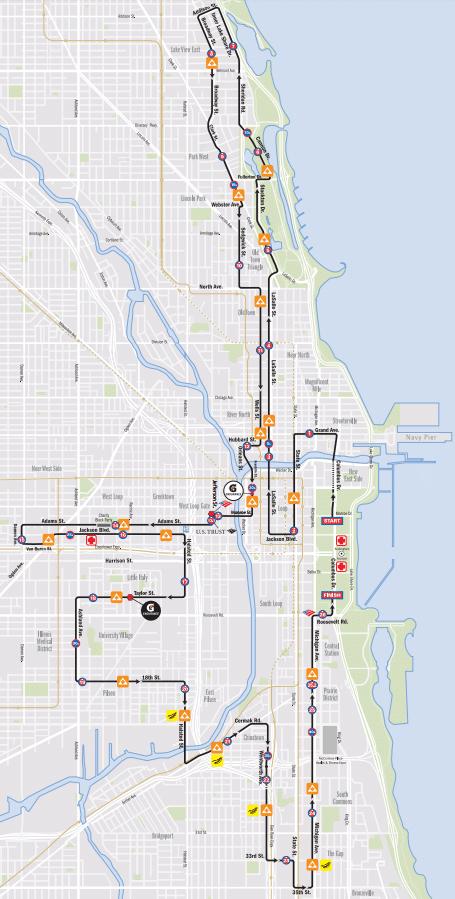 Chicago Marathon Route 2017